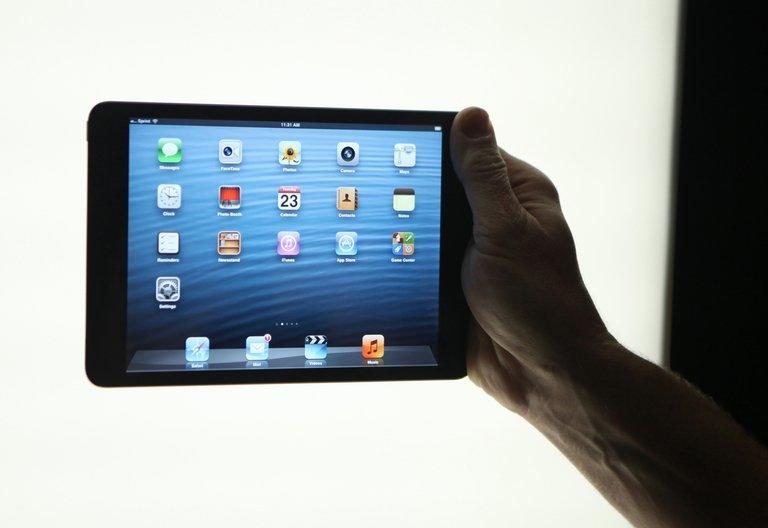 Apple's newly introduced iPad Mini is seen in San Jose on October 23, 2012