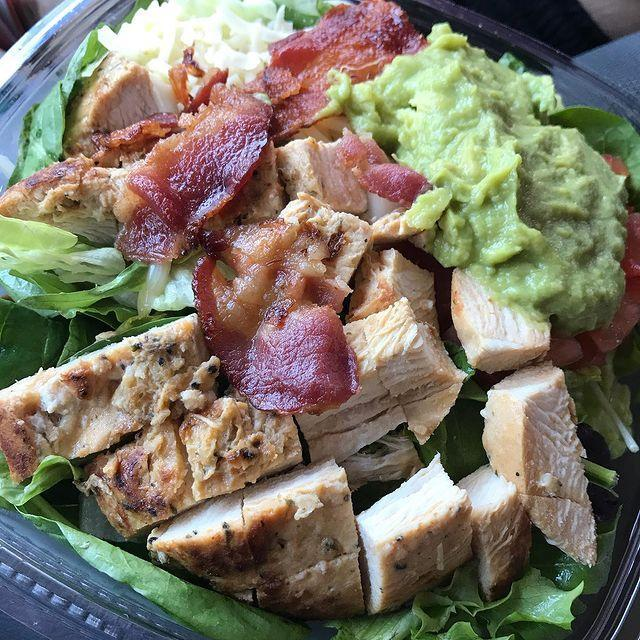 """<p><strong>What is it:</strong> Made fresh daily with Wendy's signature lettuce blend, pepper jack cheese, diced tomatoes, cool, creamy avocado, Applewood smoked bacon, and grilled chicken breast hot off the grill, all topped with Marzetti Simply Dressed Southwest Ranch Dressing. It's zesty and Southwesty!</p><p><strong>Why it's good tier: </strong>Chicken, bacon and avocado is a flavour combination that can't be denied.</p><p><a href=""""https://www.instagram.com/p/CAV89ihgID9/"""" rel=""""nofollow noopener"""" target=""""_blank"""" data-ylk=""""slk:See the original post on Instagram"""" class=""""link rapid-noclick-resp"""">See the original post on Instagram</a></p>"""