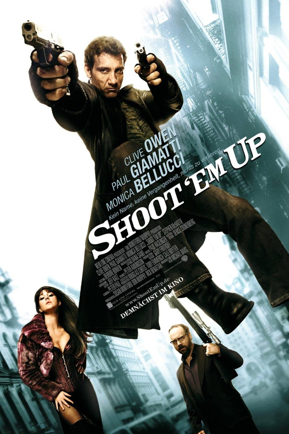 <p><b>Why it was banned:</b> For an entirely accurate reason: that it was glamorising guns. Anyone who buys a ticket to a film called 'Shoot 'Em Up' knows exactly what they're getting into; however, the Advertising Standards Authority ruled that children could be upset by the posters, as could families of gun crime victims.</p>