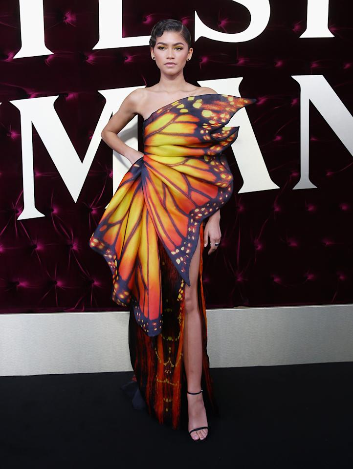<p>Wearing Moschino at the Australian premiere of 'The Greatest Showman'.<em> [Photo: Getty]</em> </p>