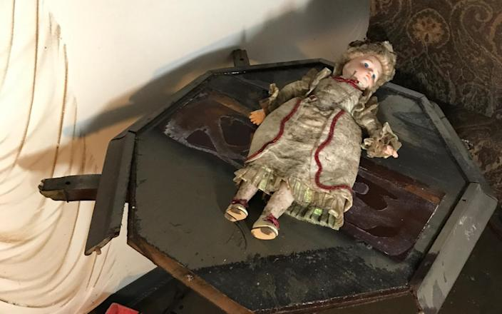"""A doll from """"A Christmas Carol,"""" ruined in the flood at the Alley Theatre in Houston, Sept. 1, 2017. (Photo: Courtesy of Alley Theatre)"""