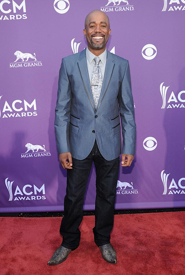 """<p class=""""MsoNormal"""">Darius Rucker has come a long way since his days with Hootie and the Blowfish, and is now a full-fledged country crooner. See his snakeskin boots for proof!</p>"""