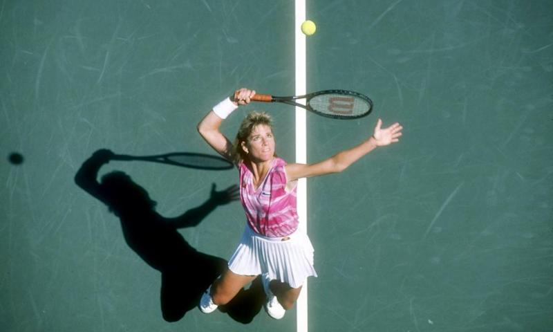 Chris Evert in action in 1985.