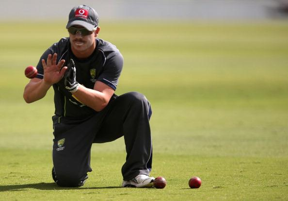 ADELAIDE, AUSTRALIA - NOVEMBER 20:  David Warner takes a catch during an Australian training session at Adelaide Oval on November 20, 2012 in Adelaide, Australia.  (Photo by Regi Varghese/Getty Images)