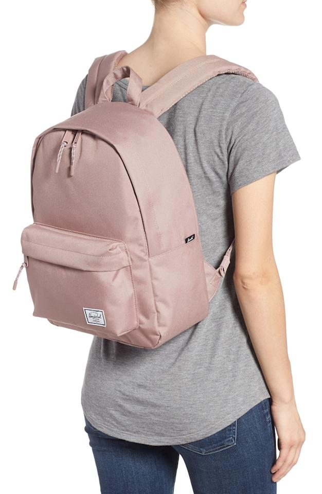 """<p><strong>HERSCHEL SUPPLY CO.</strong></p><p>nordstrom.com</p><p><strong>$45.00</strong></p><p><a href=""""https://go.redirectingat.com?id=74968X1596630&url=https%3A%2F%2Fshop.nordstrom.com%2Fs%2Fherschel-supply-co-classic-mid-volume-backpack%2F4909558&sref=http%3A%2F%2Fwww.womansday.com%2Flife%2Fg955%2Fgifts-for-her%2F"""" target=""""_blank"""">Shop Now</a></p><p>Cute enough to grab on the go, but comfortable enough to keep her going all day long.</p>"""