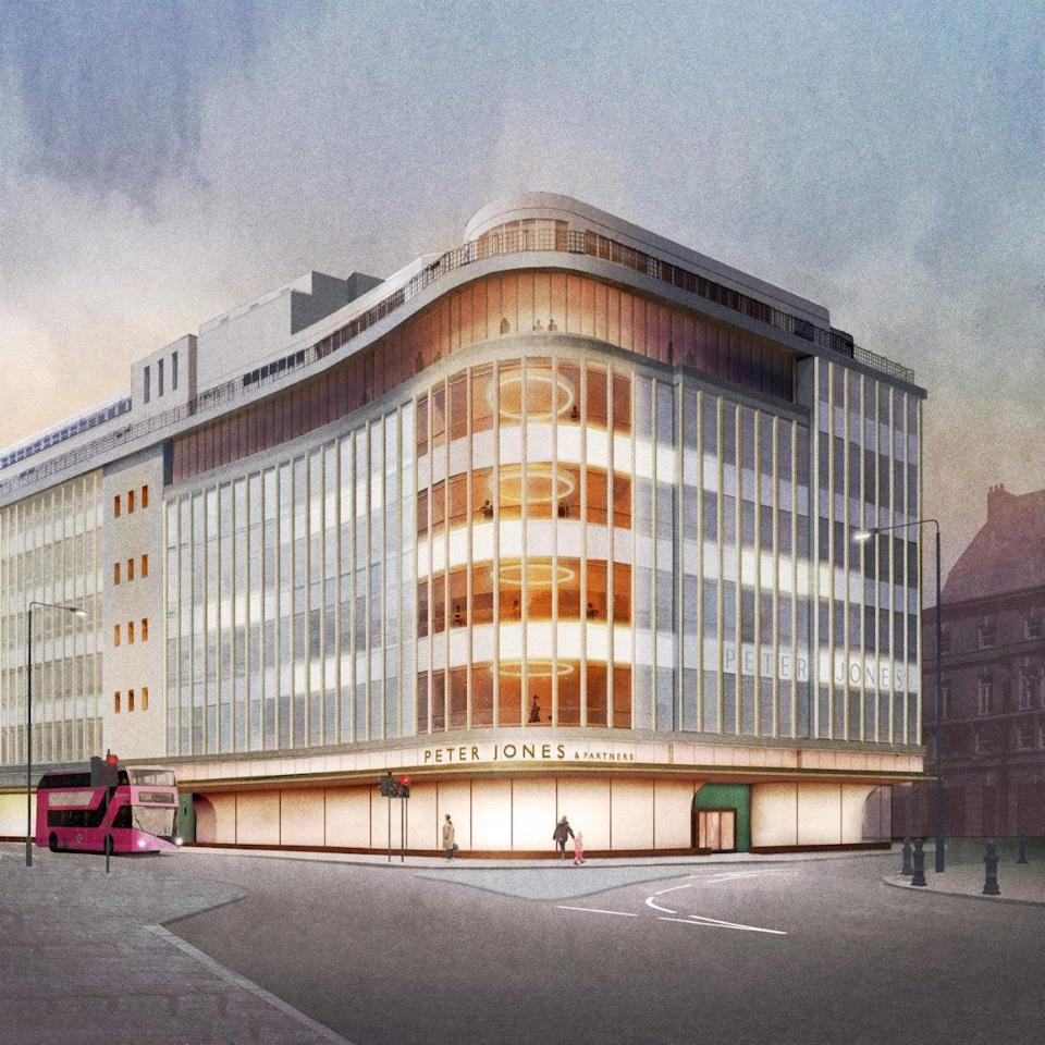 John Lewis is starting work on a renovation of the façade of its Peter Jones shop (John Lewis)