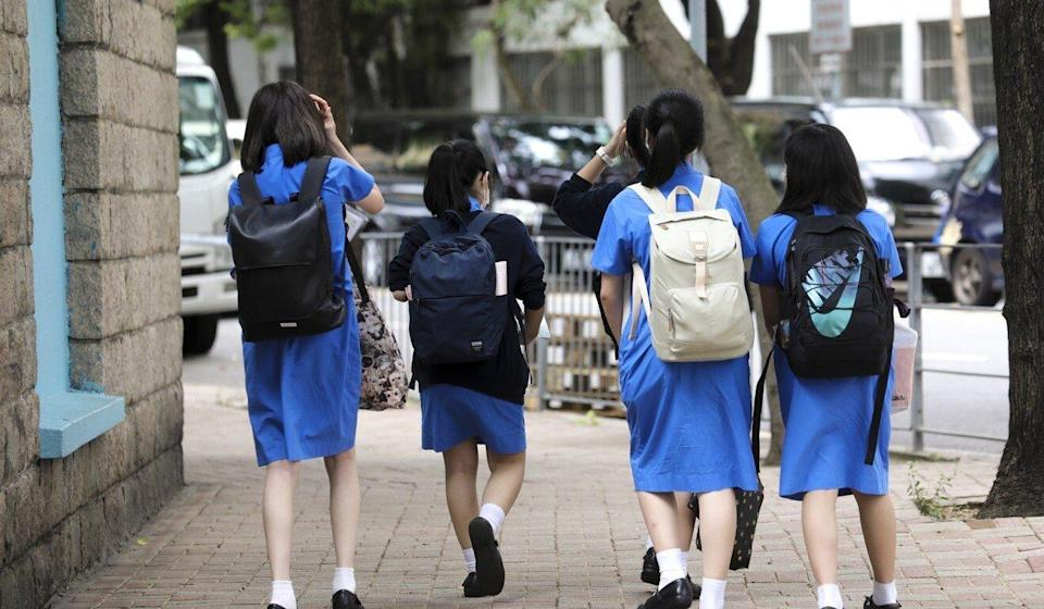 Secondary school pupils could be back to doing full-day classes. Photo: Dickson Lee
