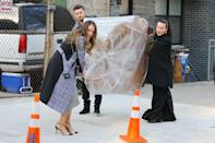 <p>Sutton Foster, Debi Mazar and Nico Tortorella are seen filming an episode of <i>Younger</i> on Wednesday in N.Y.C. </p>