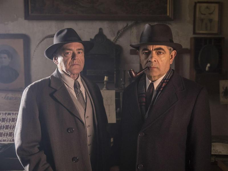 Kevin R McNally as Grandjean and Atkinson as Maigret in ITV's adaptation of the best-selling crime novels by Georges Simenon