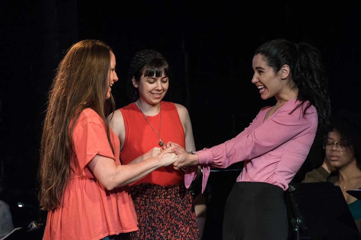 """Tamra Hayden, April Lavalle and Alexandra Mazzucchelli perform in """"Stepchild."""""""