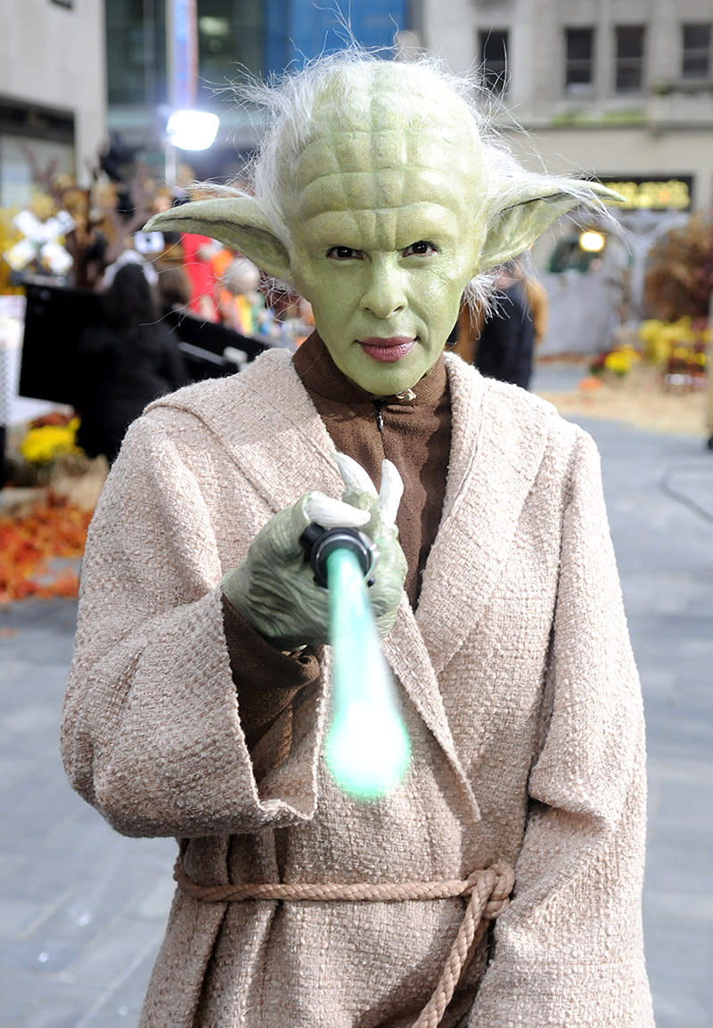 <p>Halloween wouldn't be the same without the annual tradition of <em>Today</em> hosts wearing a group costume for the broadcast. In 2009, the theme was <em>Star Wars</em>, and Kotb chose wisely, very wisely. (Photo: Peter Kramer/NBC/NBCU Photo Bank via Getty Images) </p>