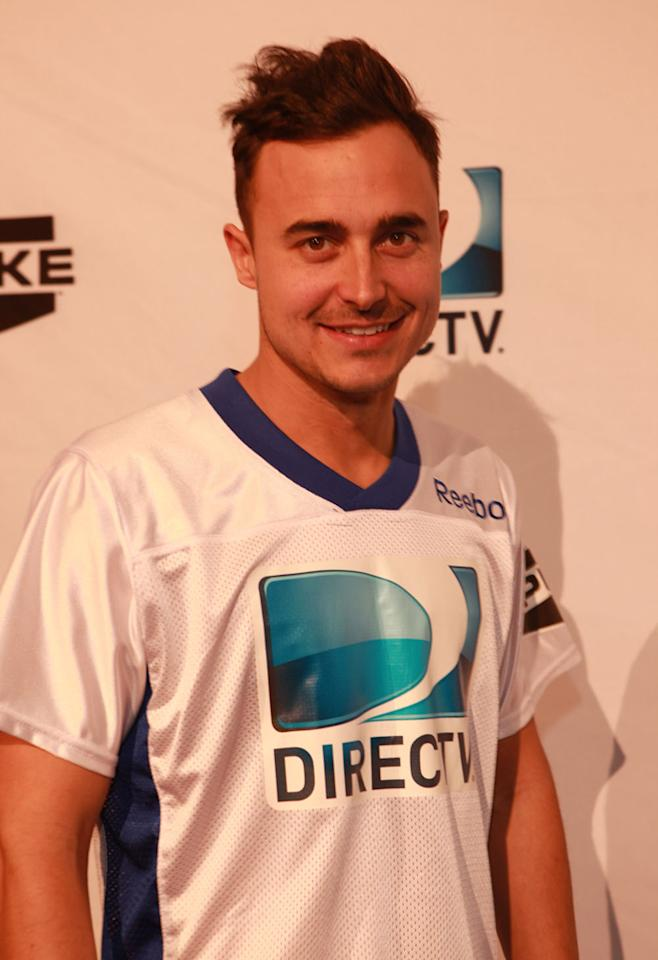 The Fray singer Joe King arrives at the DirecTV Celebrity Beach Bowl in Indianapolis.