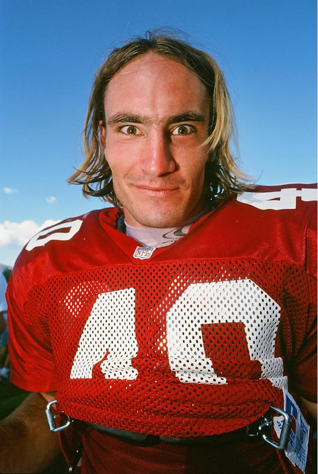 Arizona Cardinals safety Pat Tillman (40) on the field during pre-season training camp held on the campus of Northern Arizona University in Flagstaff, AZ. (Photo By John Cordes/Icon Sportswire via Getty Images)