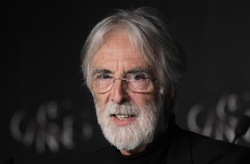 Director Michael Haneke speaks during a press conference for Love at the 65th international film festival, in Cannes, southern France, Sunday, May 20, 2012. (AP Photo/Francois Mori)