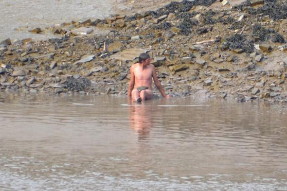 Naked swimmer pulled out of river in Wales by 20 firemen