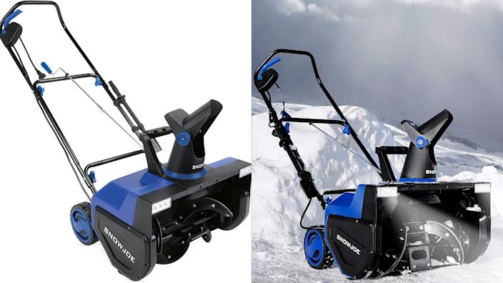 Tackle huge snow banks with gusto thanks to this snow blower.