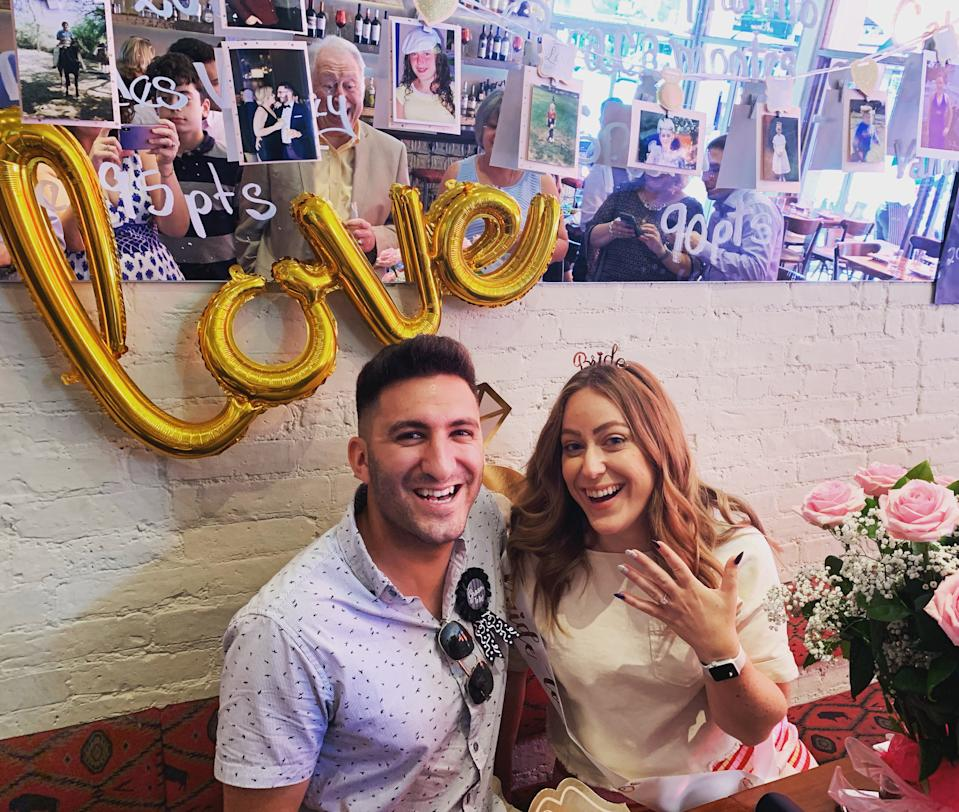 Gabie Kur and her fiancé, Pablo Oliva were scheduled to be married in April in Queens, New York and then travel to Argentina to celebrate with Oliva's family. Their plans were upended and will now be married in October. (Photo from Gabie Kur)