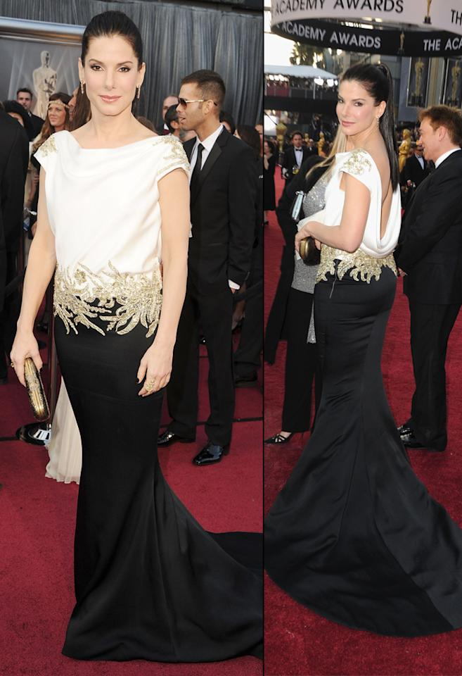 Sandra Bullock arrives at the 84th Annual Academy Awards in Hollywood, CA.
