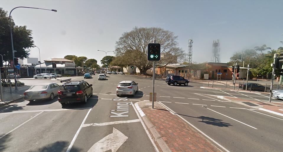A Google Maps image of King Street and Morayfield Road in Caboolture.