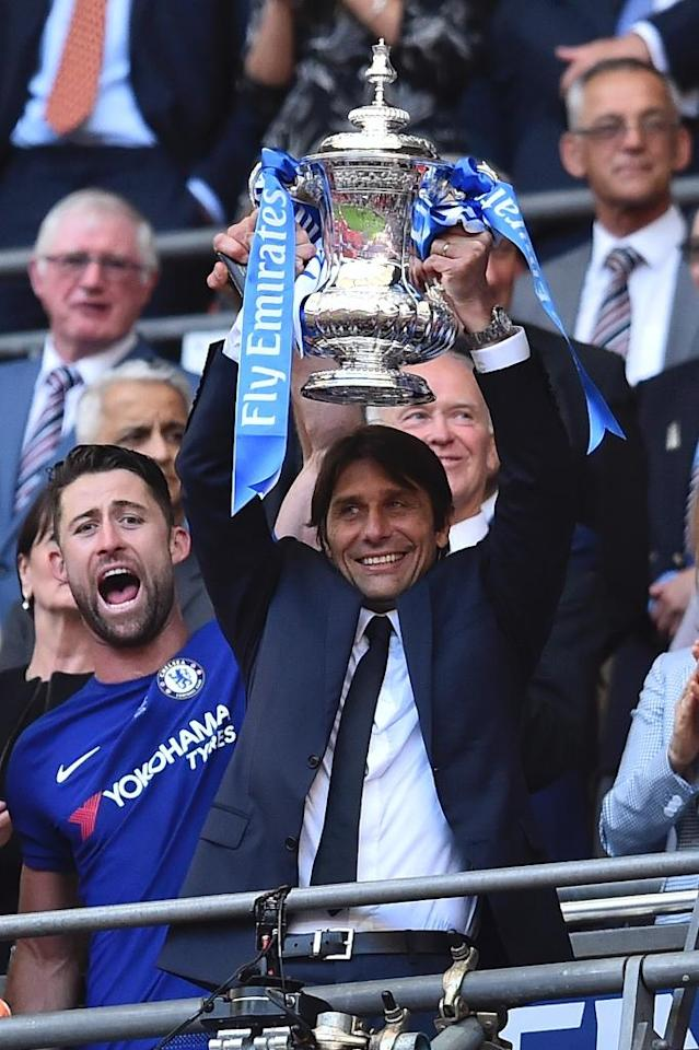 Antonio Conte's parting gift of an FA Cup could not compensate for a fifth-placed Premier League finish which meant no Champions League qualification (AFP Photo/Glyn KIRK )
