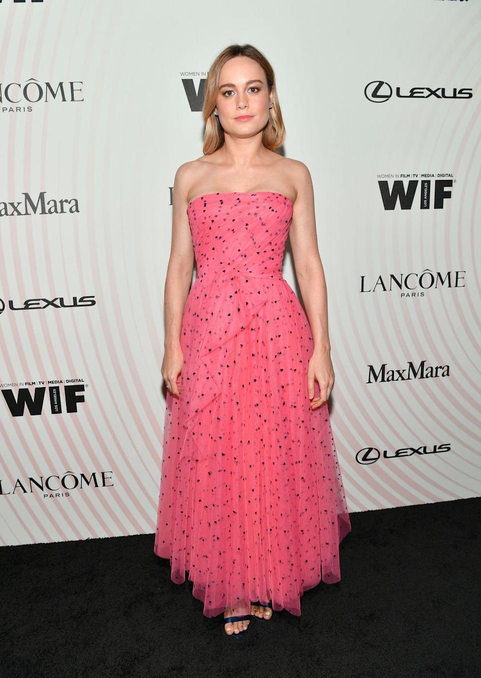 <p>The actress wore a Carolina Herrera gown to the Women In Film Awards in Beverley Hills.</p>