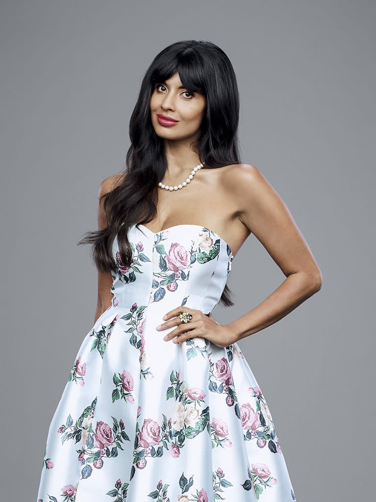 Jameela Jamil as Tahani on 'The Good Place.' (Photo: Andrew Eccles/NBC/NBCU Photo Bank via Getty Images)