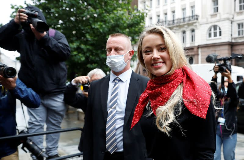Actor Amber Heard at the High Court in London