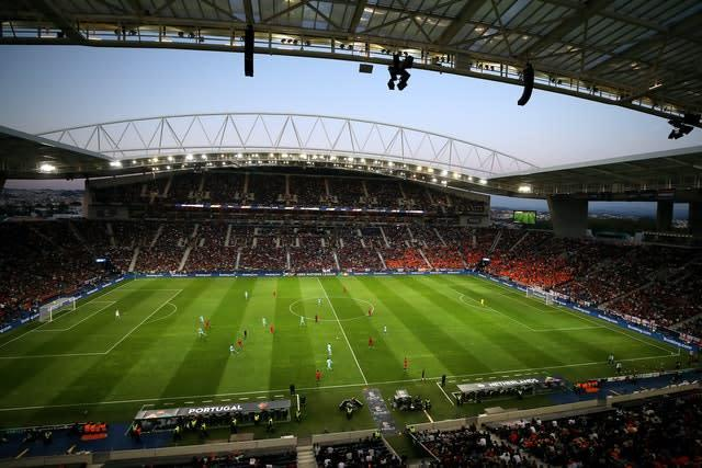The Estadio de Dragao in Porto could be used if last 16 Champions League matches cannot be played at their original venues (Tim Goode/PA)