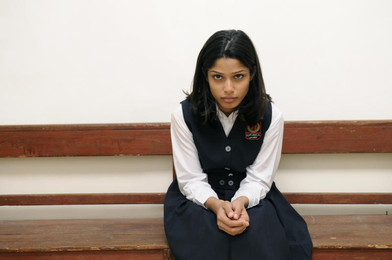 "In this film publicity image released by The Weinstein Company, Freida Pinto is shown in a scene from ""Miral."" (AP Photo/The Weinstein Company, Jose Haro)"