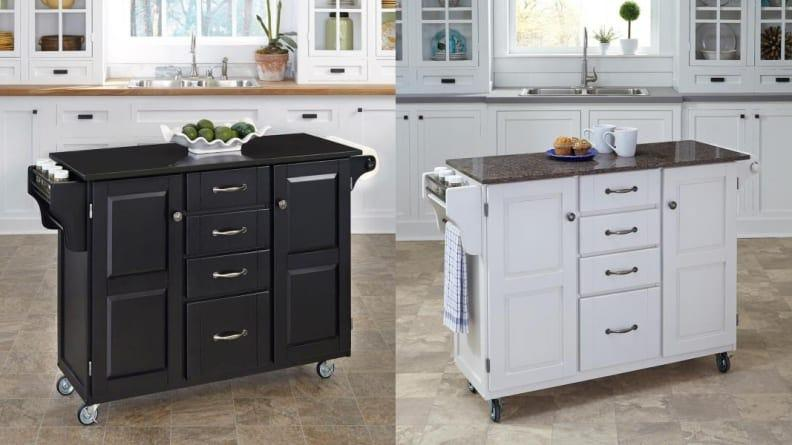 Storage at a premium but ample floor space? A kitchen island could be the answer.
