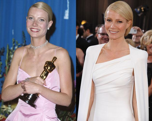 "Gwyneth Paltrow looks like she hasn't aged a day since she won her first Oscar in 1999 for Best Actress in ""Shakespeare in Love."""
