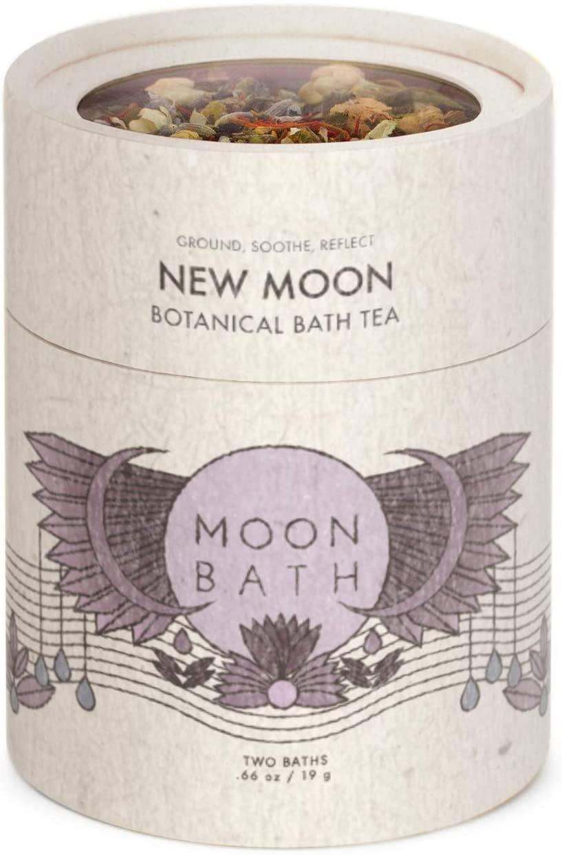 <p>While you sip on some relaxing tea, your body can also soak in some <span>New Moon Botanical Bath Tea </span> ($20). It's an herbal bath soak to calm and soothe with dried lavender, jasmine and chamomile. </p>