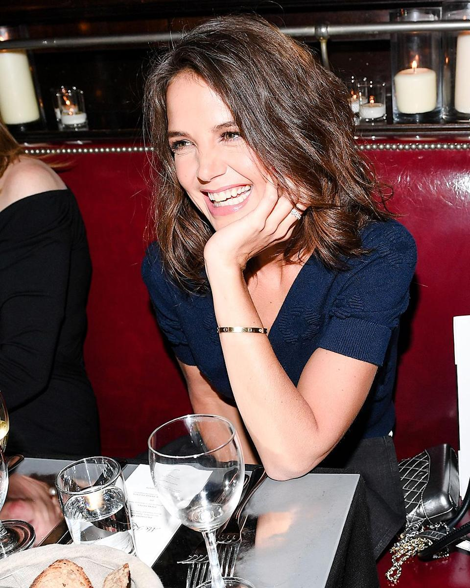 """<p>The <i>Dawson's Creek</i> actress was right at home at the Tribeca Film Festival Artists Dinner in New York City. Can you believe she has <a rel=""""nofollow"""" href=""""https://www.yahoo.com/celebrity/katie-holmes-apos-daughter-suri-032034342.html"""" data-ylk=""""slk:a daughter who turned 11;outcm:mb_qualified_link;_E:mb_qualified_link;ct:story;"""" class=""""link rapid-noclick-resp yahoo-link"""">a daughter who turned 11</a> this month?! (Photo: Billy Farrell/BFA/REX/Shutterstock) </p>"""