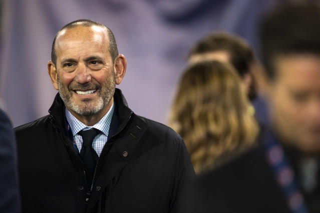 MLS commissioner Don Garber is hopeful the league's summer tournament goes off with few complications. (Photo by Brett Carlsen/Getty Images)