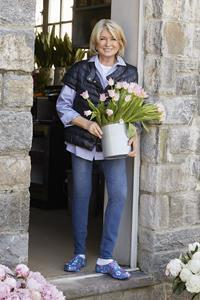 Martha Stewart in the Martha Stewart x Easy Spirit TGARDEN gardening clog
