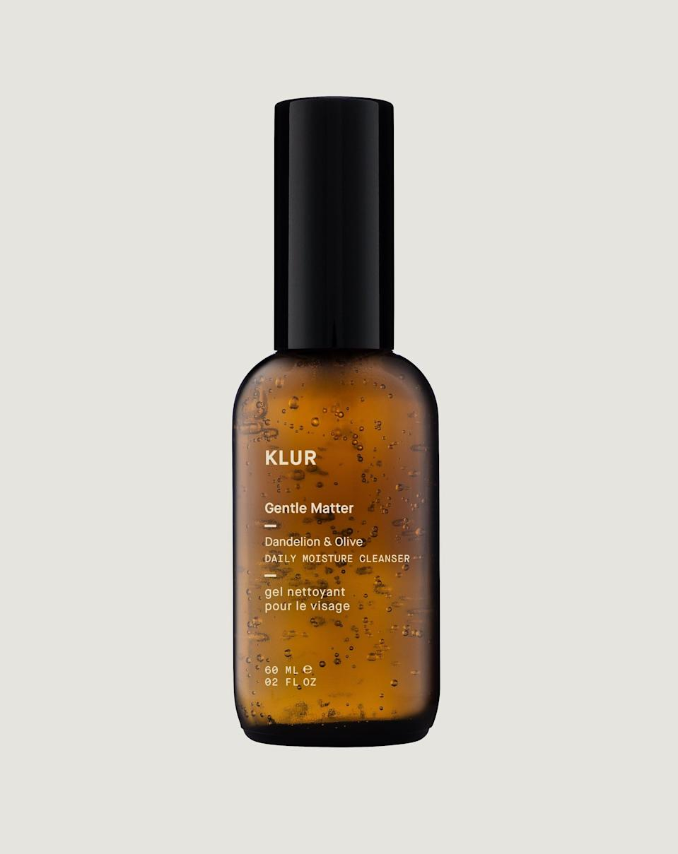 <p>The <span>Klur Gentle Matter Daily Moisture Cleanser</span> ($40) features a soothing, non-foaming formula with green tea, white tea, and aloe to keep your skin nice and clean without all of the extra stuff.</p>