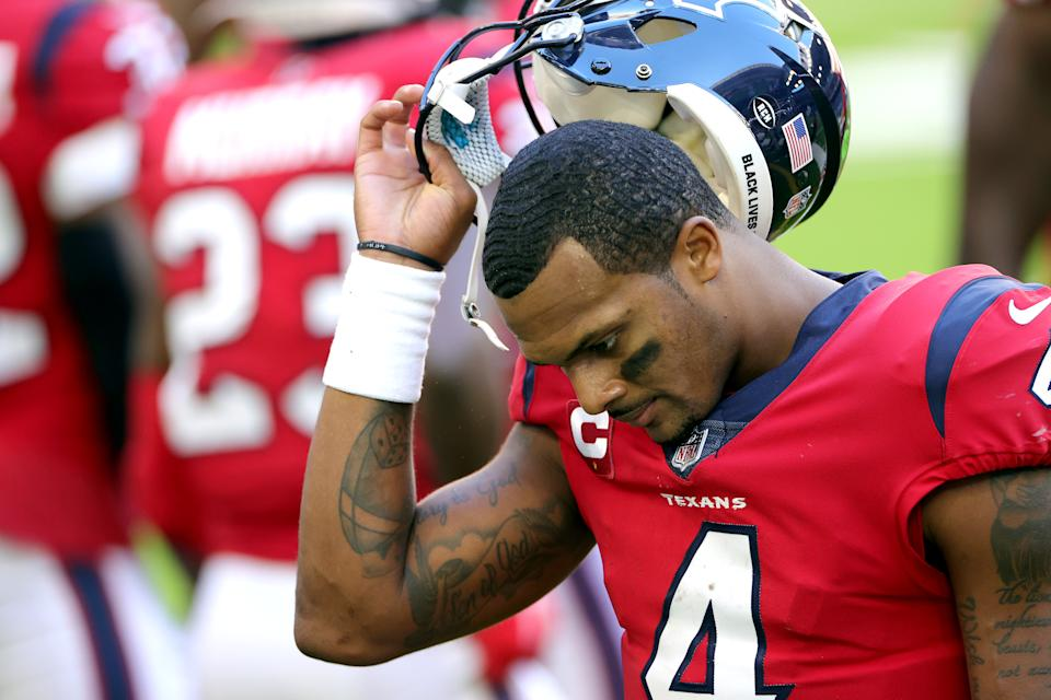Deshaun Watson is reportedly unhappy with the Houston Texans. Can anyone blame him? (Photo by Carmen Mandato/Getty Images)