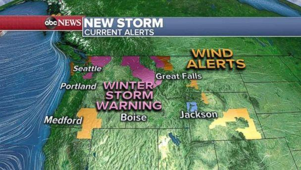 Six states in the West are under weather alerts and warnings this morning. (ABC News)