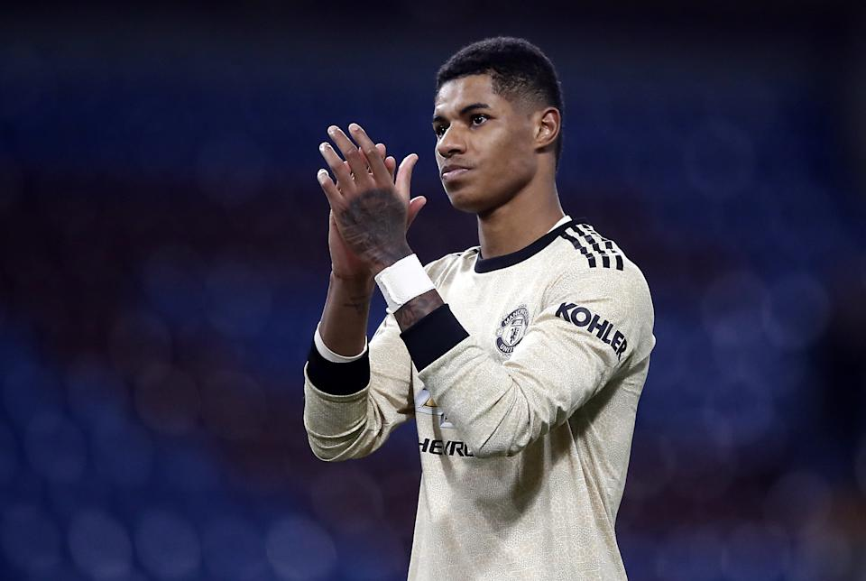 File photo dated 28/11/19 of Manchester United's Marcus Rashford. Work and Pensions Secretary Therese Coffey has become embroiled in a row over her response to footballer Marcus Rashford's plea for the Government to extend its free school meal voucher scheme through the summer.