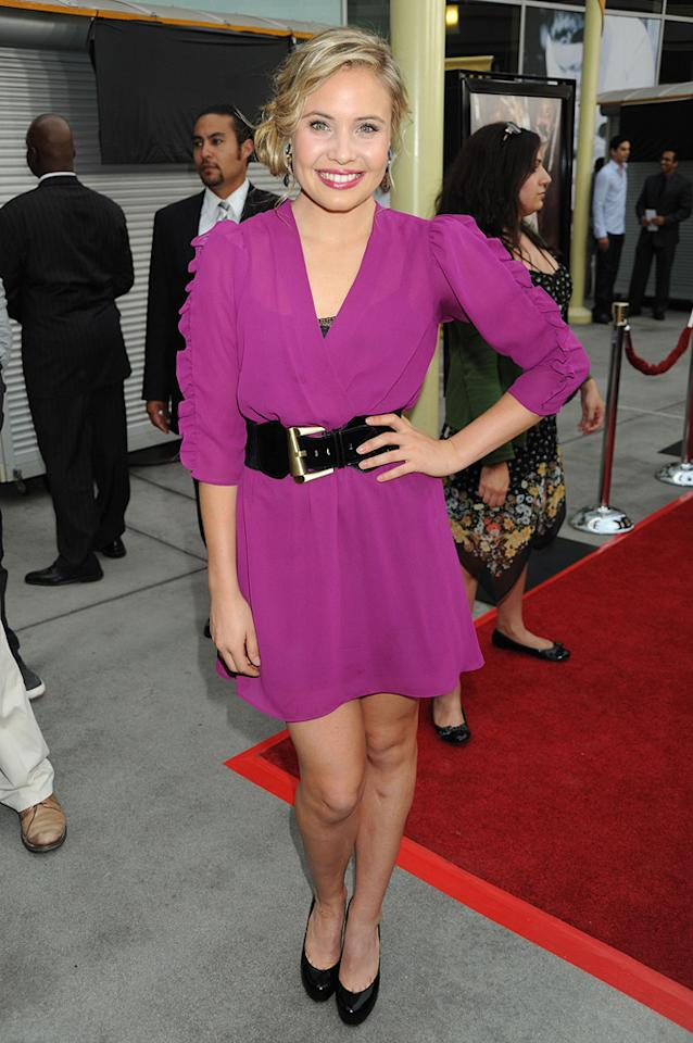 """<a href=""""http://movies.yahoo.com/movie/contributor/1809667922"""">Leah Pipes</a> at the Los Angeles premiere of <a href=""""http://movies.yahoo.com/movie/1810046336/info"""">Sorority Row</a> - 09/03/2009"""