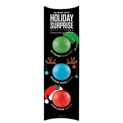 <p>This <span>Da Bomb Bath Fizzers Novelty Set</span> ($14) is further proof that the only thing better than a bath bomb is a set of three that are all holiday themed.</p>
