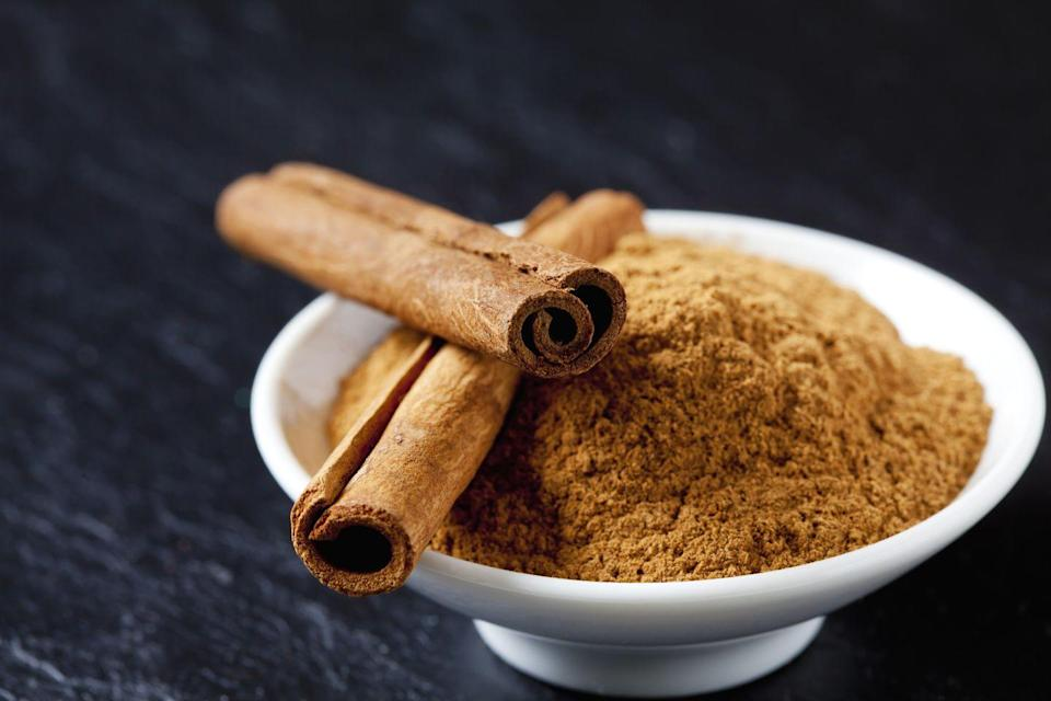 """<p>When a <strong>cold</strong> is coming on, fight it with tea made with cinnamon, a powerful antioxidant: Put 1 cup honey into a sterilized jar and place in a double boiler over low heat. Gently heat for 15 minutes—don't boil. Stir in 3 Tbsp powdered cinnamon and 1 tsp allspice, then remove jar from double boiler and cool. Stir 1 Tbsp of this mixture into hot water and drink when cooled. </p><p>—adapted for <em>Prevention</em> from <em><a href=""""https://www.amazon.com/Herbal-Kitchen-Lasting-Easy-Find/dp/1573247456/ref=sr_1_1?keywords=herbal+kitchen&qid=1576522313&sr=8-1&tag=syn-yahoo-20&ascsubtag=%5Bartid%7C10063.g.37191346%5Bsrc%7Cyahoo-us"""" rel=""""nofollow noopener"""" target=""""_blank"""" data-ylk=""""slk:The Herbal Kitchen"""" class=""""link rapid-noclick-resp"""">The Herbal Kitchen </a></em>by Kami McBride </p>"""