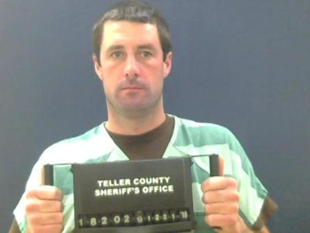 FILE PHOTO: Patrick Frazee appears in a police booking photo in Woodland Colorado