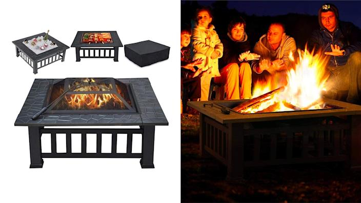 How do you spell comfort? Hint: It starts with fire pit.