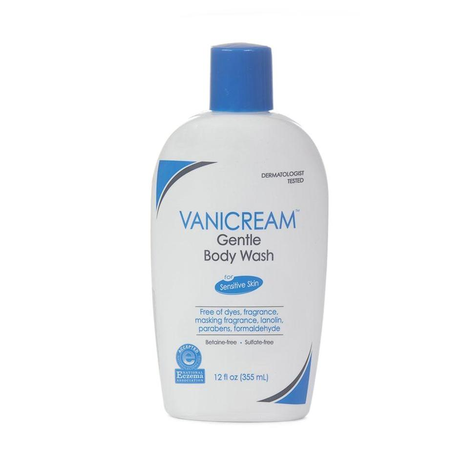 """<p>If you have very sensitive skin, baby wash may not actually be the best type of soap to use on your new tattoo. Dr. Suarez recommends <span>Vanicream Gentle Body Wash</span> ($12) instead because it's """"free of cocamidopropyl betaine, which is a surfactant that's commonly present in baby shampoos and body washes. It's a very gentle surfactant, but a lot of people can develop an allergy to it."""" If you think you might be sensitive to this ingredient, Vanicream Gentle Body Wash is the safest option. Dr. Suarez considers it to be """"medical-grade skin care,"""" and since tattoos are technically wounds, this is exactly the type of soap you should be using if you have very sensitive skin.</p>"""