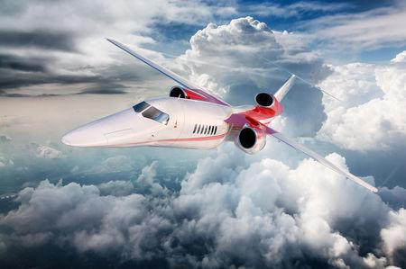 A Digital rendering of the Aerion AS2 Supersonic Business Jet is seen in this image provided by Aerion,  October 15, 2018      Courtesy Aerion/Handout via REUTERS