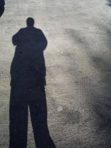 Shadow of a man on the floor