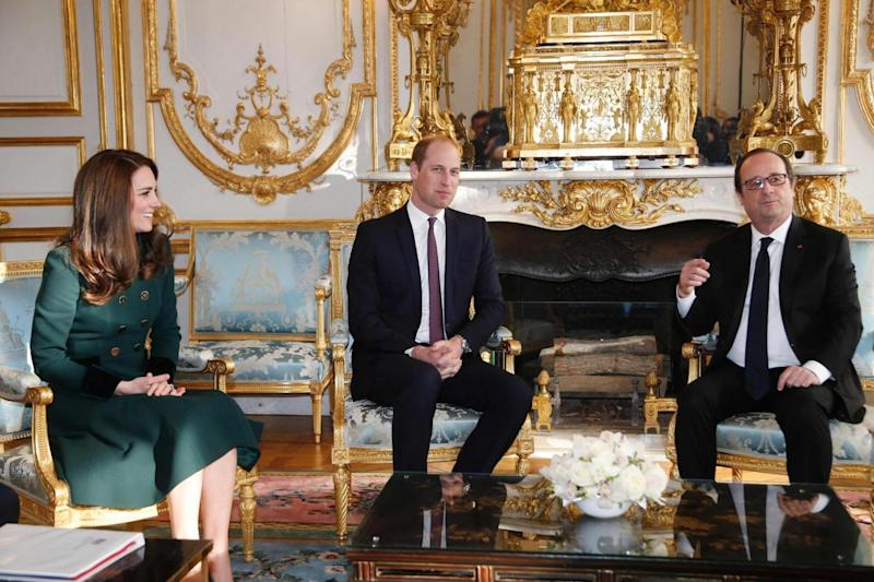 The trio sit down to chat in the Elysee Palace (AFP/Getty Images)