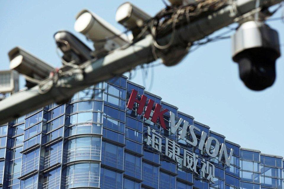 Surveillance cameras outside the headquarters of Chinese video surveillance firm Hikvision, a previous subject of a US blacklisting, in Hangzhou. Photo: Reuters