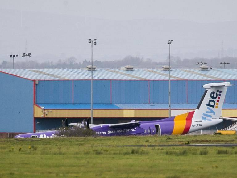 Flybe crash landing: Passenger plane makes emergency landing at Belfast airport after nose gear fails to deploy